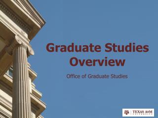 Graduate Studies  Overview