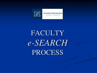 FACULTY e-SEARCH   PROCESS