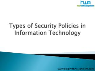 Types of Security Policies in Information Technology