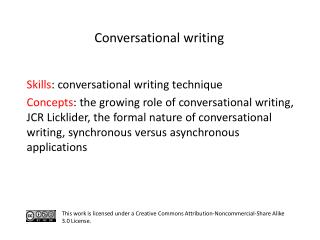 S kills : conversational writing technique