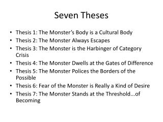 Seven Theses