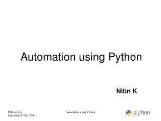 Automation using Python
