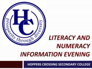 Literacy and numeracy information evening
