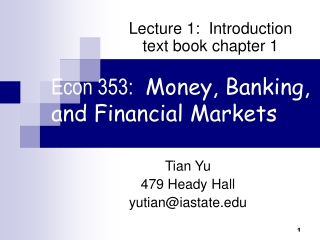Money and Banking class 3