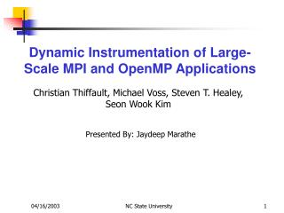 Dynamic Instrumentation of Large-Scale MPI and OpenMP Applications