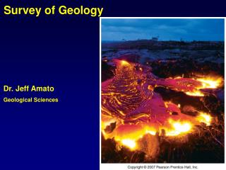 Dr. Jeff Amato Geological Sciences
