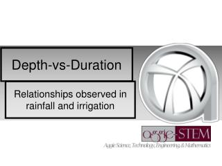 Depth- vs -Duration