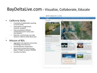BayDeltaLive  –  Visualize, Collaborate, Educate