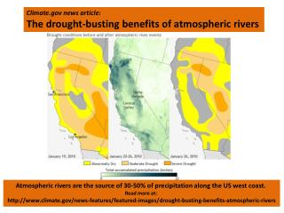 Climate news article: The drought-busting benefits of atmospheric rivers