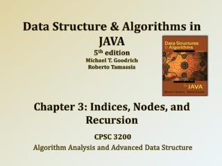 CPSC 3200 Algorithm Analysis and Advanced Data Structure