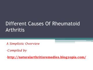 Different Causes Of Rheumatoid Arthritis