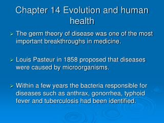 Chapter 14 Evolution and human health
