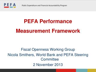 PEFA Performance Measurement Framework