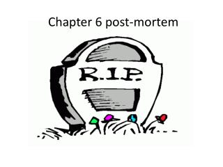 Chapter 6 post-mortem