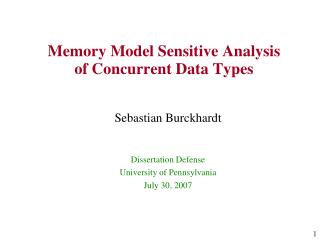 Memory Model Sensitive Analysis of Concurrent Data Types