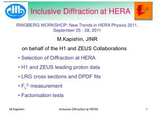 Inclusive Diffraction at HERA