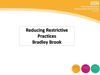 Environments for the Reduction of Restraint  Seclusion