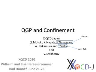 QGP and Confinement