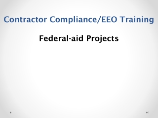 Contractor Compliance/EEO Training Federal-aid Projects