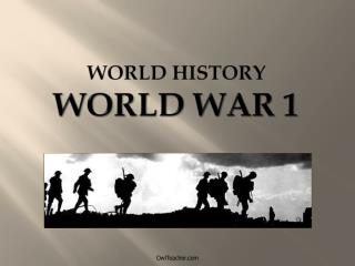 World History World War 1
