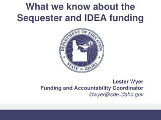 What we know about the Sequester and IDEA funding
