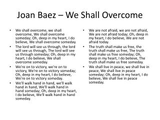 Joan Baez – We Shall Overcome