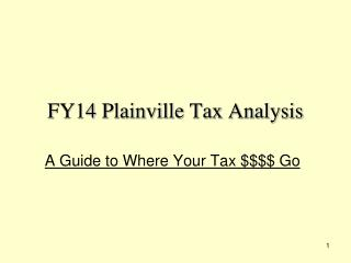 FY14 Plainville Tax Analysis