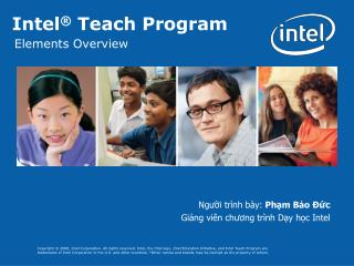 Intel ®  Teach Program