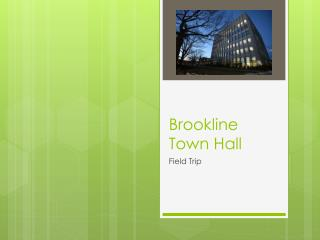 Brookline Town Hall