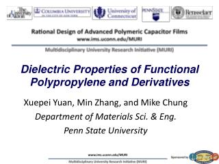 Dielectric Properties of Functional Polypropylene and Derivatives