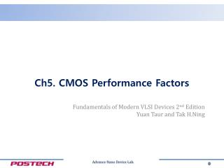 Ch5. CMOS Performance Factors