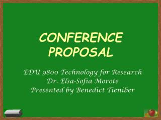 CONFERENCE PROPOSAL