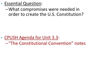 The Constitutional Convention  Federalism