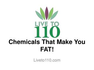 Chemicals That  M ake You FAT!
