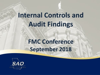 Internal Controls and Audit Findings FMC Conference September 2018