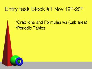 Entry task Block #1  Nov 19 th -20 th