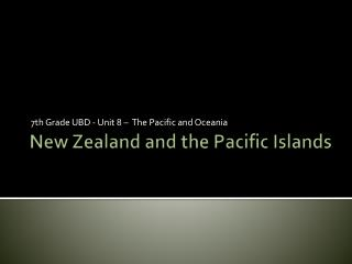 New Zealand and the Pacific Islands