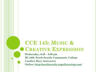 CCE 145: Music & Creative Expression