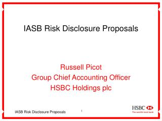 IASB Risk Disclosure Proposals