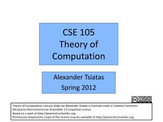 CSE 105 Theory of Computation