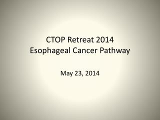 CTOP Retreat 2014 Esophageal  Cancer Pathway