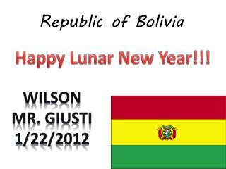 Republic of Bolivia
