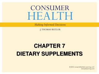 CHAPTER 7 DIETARY SUPPLEMENTS