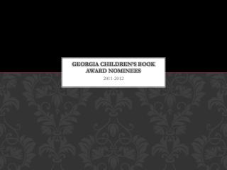 Georgia Children's Book Award Nominees