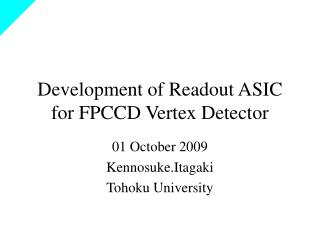 Development of Readout ASIC for FPCCD Vertex Detector