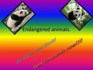 Endangered animals.