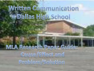 Written Communication Dallas High School