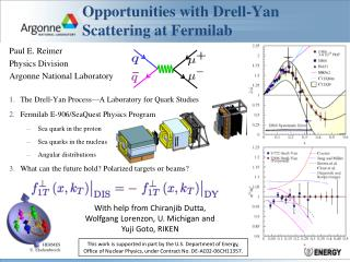 Opportunities with Drell-Yan Scattering at Fermilab