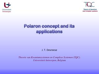 Polaron  concept and its applications