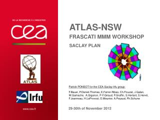 ATLAS-NSW FRASCATI MMM workshop Saclay plan